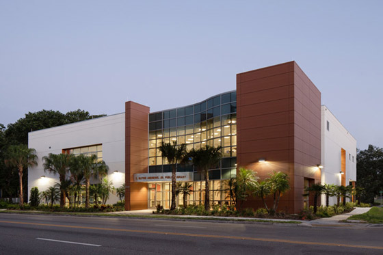 Exterior front of C. Blythe Andrews, Jr. Public Library
